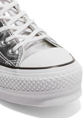 26c651501944d4 ... Converse Chuck Taylor All Star Lift metallic textured-leather platform  sneakers