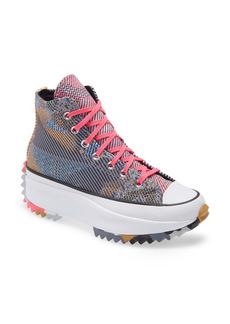 Converse Chuck Taylor® All Star® Run Star Hike Knit High Top Platform Sneaker (Women)