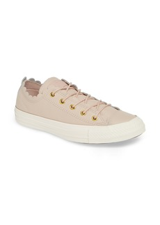 Converse Chuck Taylor® All Star® Scallop Low Top Leather Sneaker (Women)