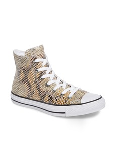 Converse Chuck Taylor® All Star® Snake Embossed High Top Sneaker (Women)