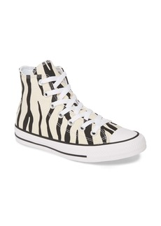 Converse Chuck Taylor® All Star® Zebra Stripe High Top Sneaker (Women)