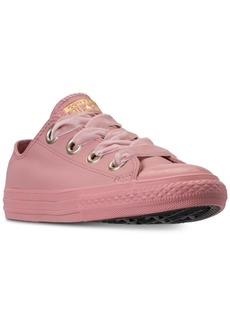 3fb98c660ef3 Converse Girls  Chuck Taylor All Star Big Eyelets Leather Ox Casual Sneakers  from Finish Line