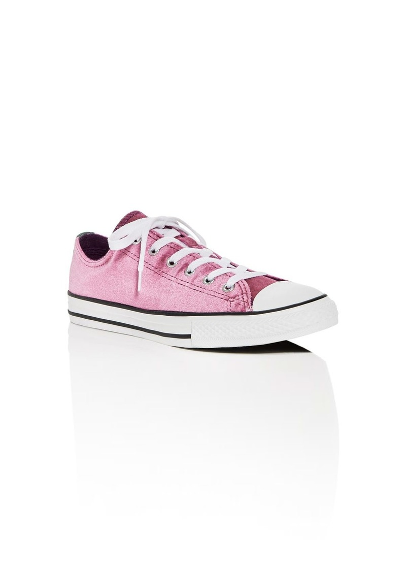 1e6e0b720e80 Converse Girls  Chuck Taylor All Star Double Tongue Velvet Lace Up Sneakers  - Toddler