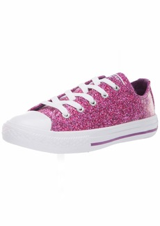 Converse Girls' Chuck Taylor All Star Glitter Coated Low Top Sneaker icon Violet White