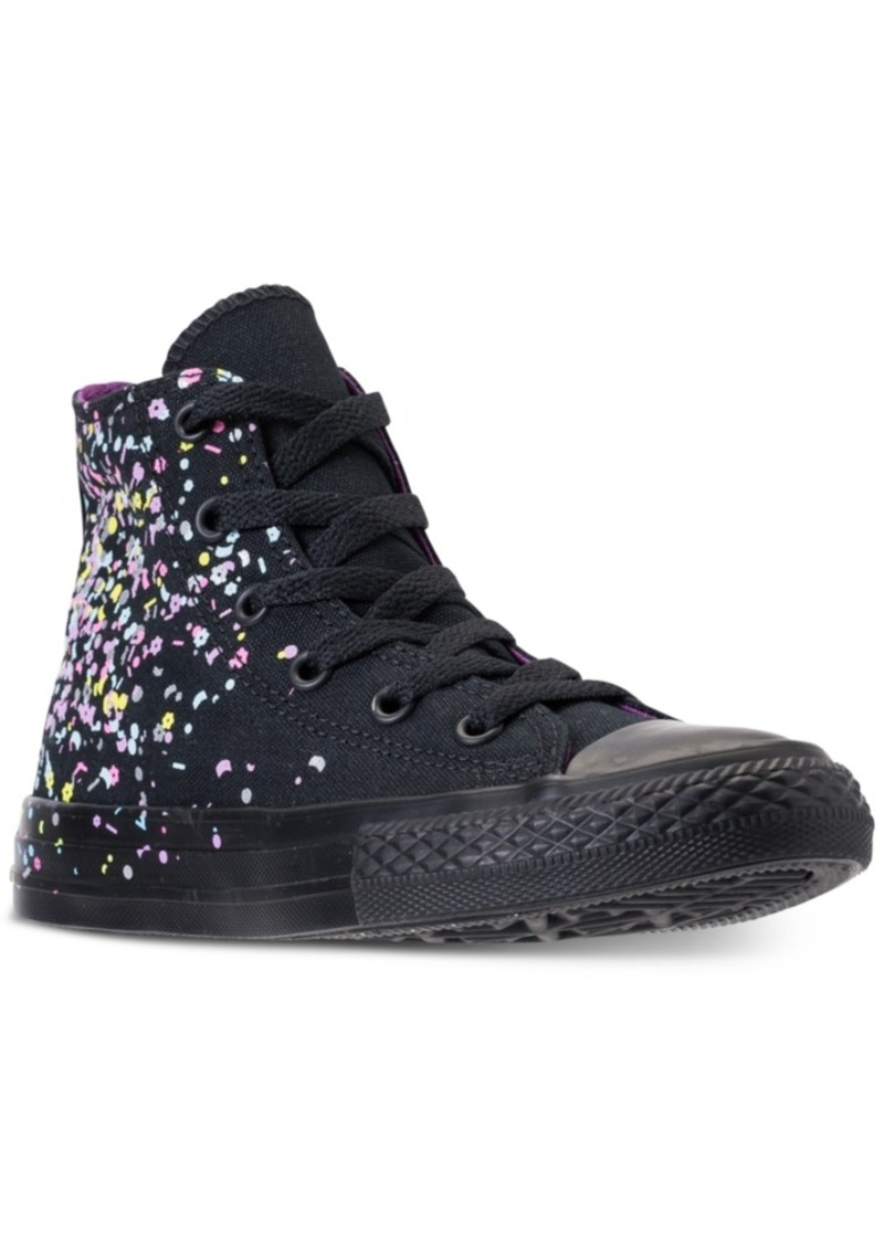 7e4a0f757854 Converse Girls  Chuck Taylor All Star High Top Confetti Casual Sneakers  from Finish Line