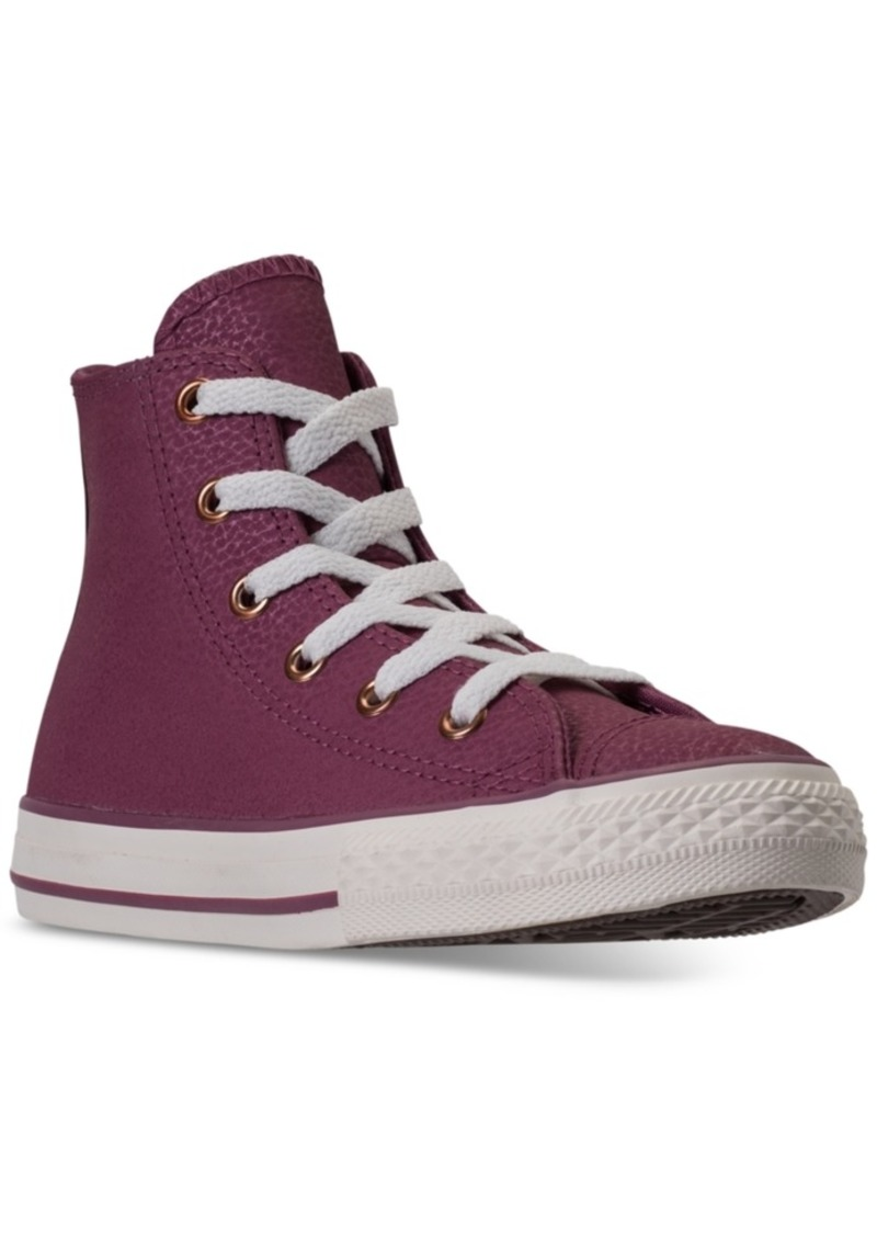 51906d48dfc3 Big Girls  Chuck Taylor High Top Leather Casual Sneakers from Finish Line