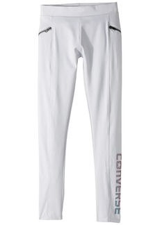 Converse Iridescent Zipper Leggings (Big Kids)