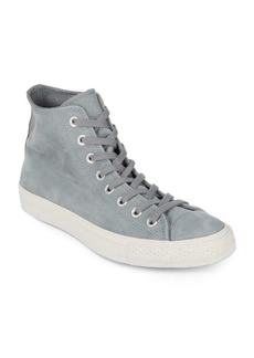 Converse Leather and Suede High-Top Sneakers