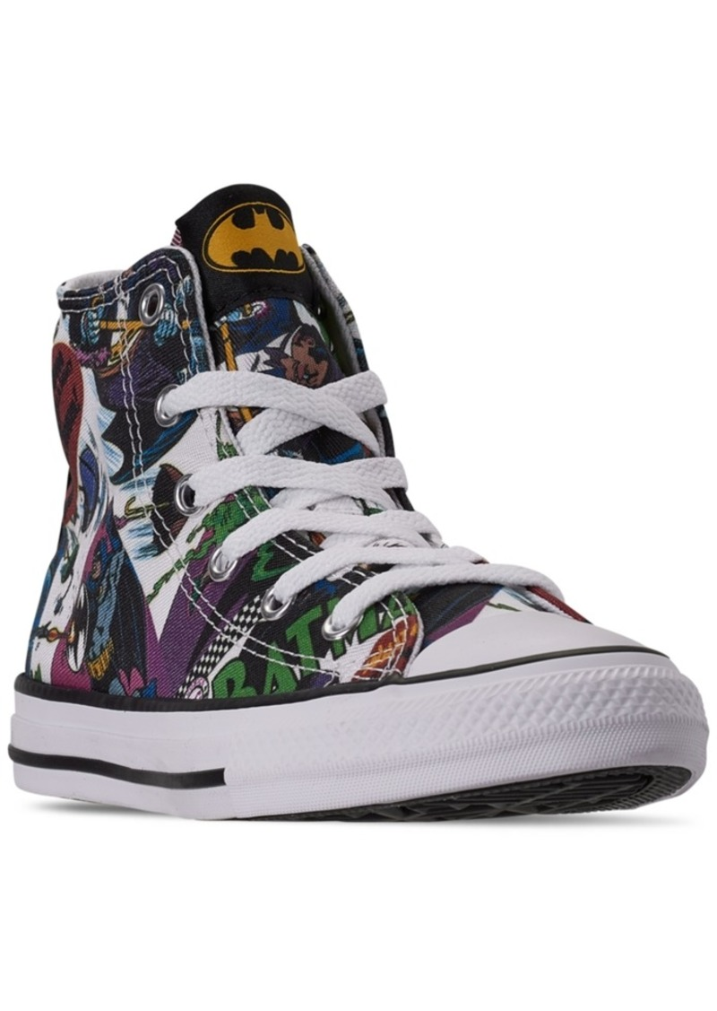 Converse Little Boys Chuck Taylor All Star Dc Comics Batman High Top Casual Sneakers from Finish Line