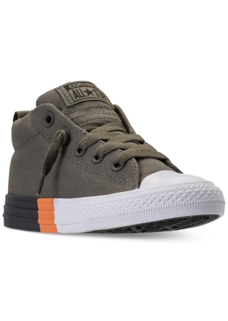 965bc4df35b1 Converse Little Boys  Chuck Taylor All Star Street Mid Casual Sneakers from  Finish Line