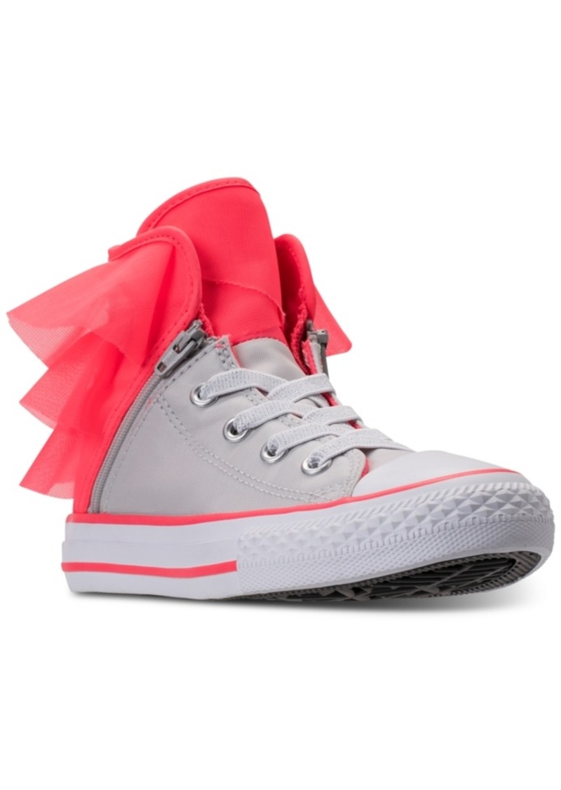 a7612ef42f89 Converse Little Girls  All Star Block Party High Top Casual Sneakers from  Finish Line