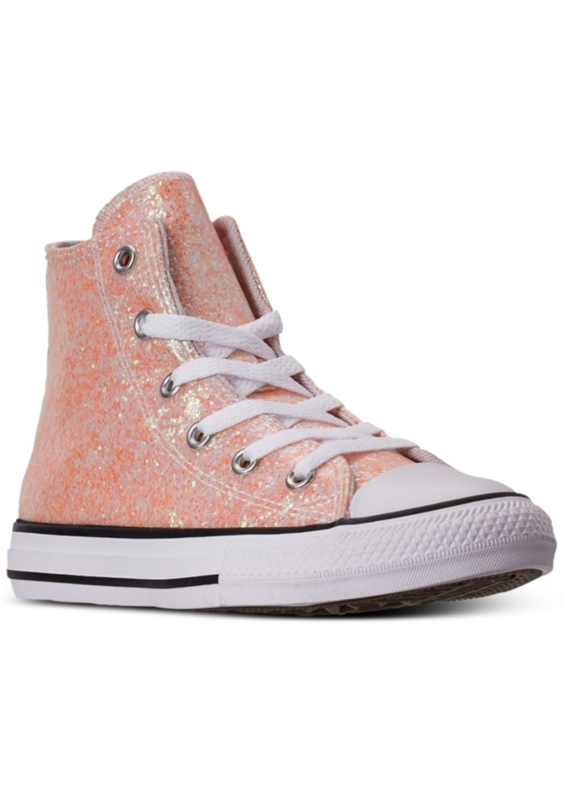 Converse Little Girls Chuck Taylor All Star Coated Glitter High Top Casual Sneakers from Finish Line