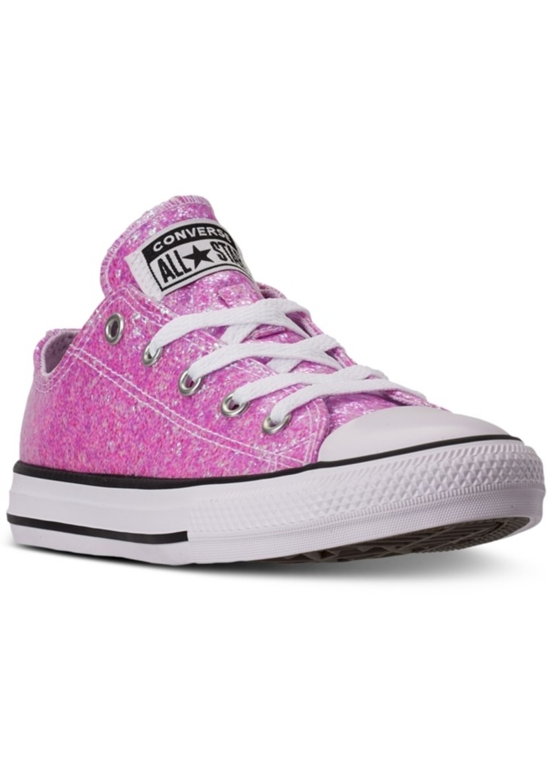 Converse Little Girls Chuck Taylor All Star Coated Glitter Low Top Casual Sneakers from Finish Line