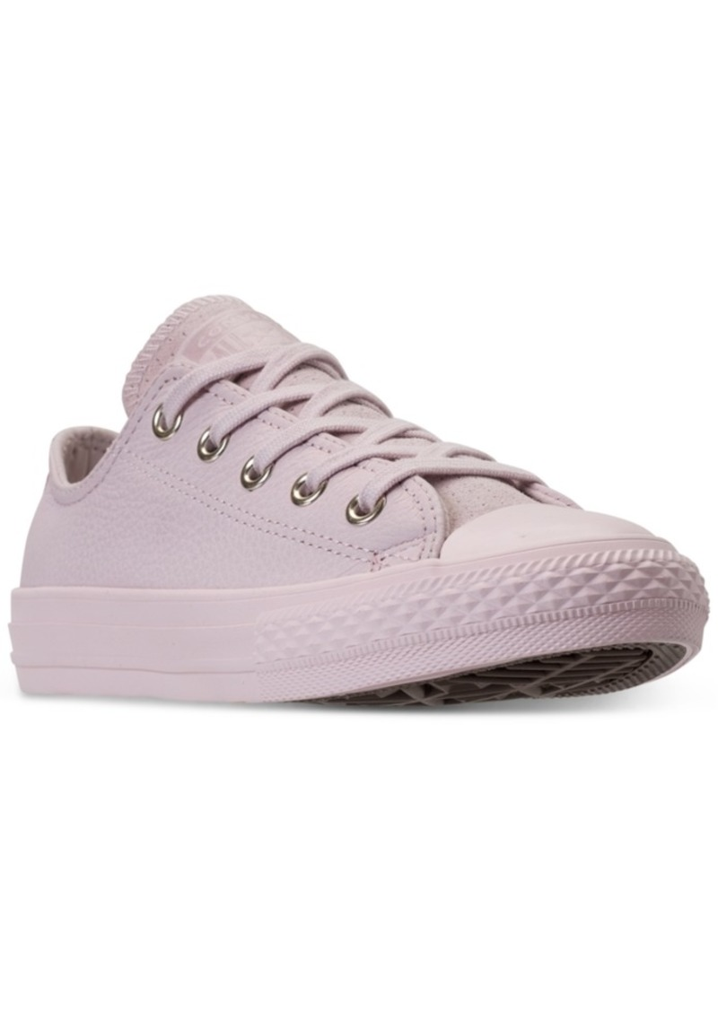 99f47f329fdf Converse Little Girls  Chuck Taylor All Star Leather Ox Casual Sneakers  from Finish Line
