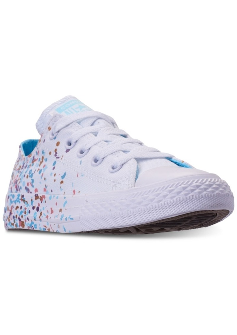 0fd428b4dc1 Converse Little Girls' Chuck Taylor All Star Ox Confetti Casual Sneakers  from Finish Line