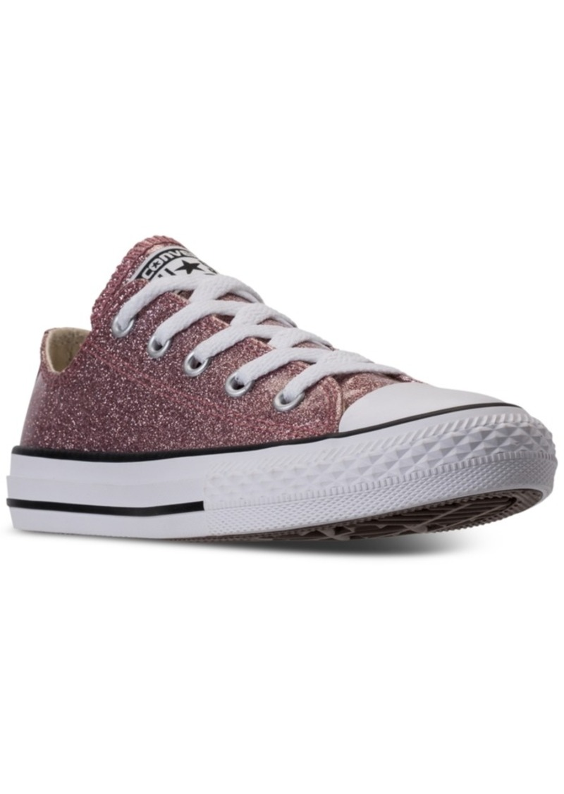 d41e9f9857ce66 Converse Little Girls  Chuck Taylor All Star Ox Glitter Casual Sneakers  from Finish Line