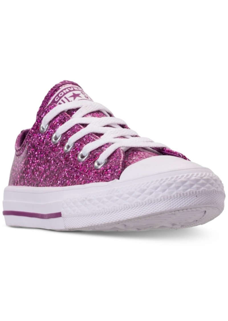 3ccdac77cbbe Converse Little Girls  Chuck Taylor All Star Party Dress Ox Casual Sneakers  from Finish Line