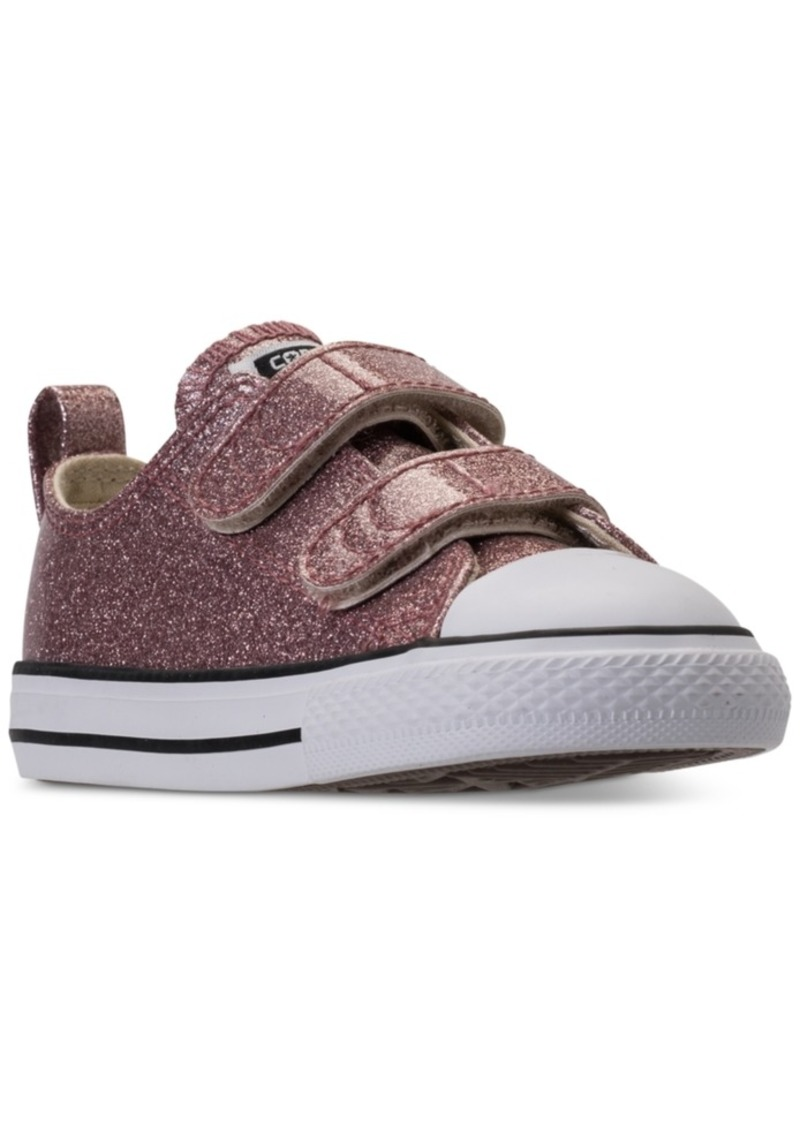 2b2b37ecd59f Toddler Girls  Chuck Taylor Ox Glitter Stay-Put Closure Strap Casual  Sneakers from Finish Line. Converse