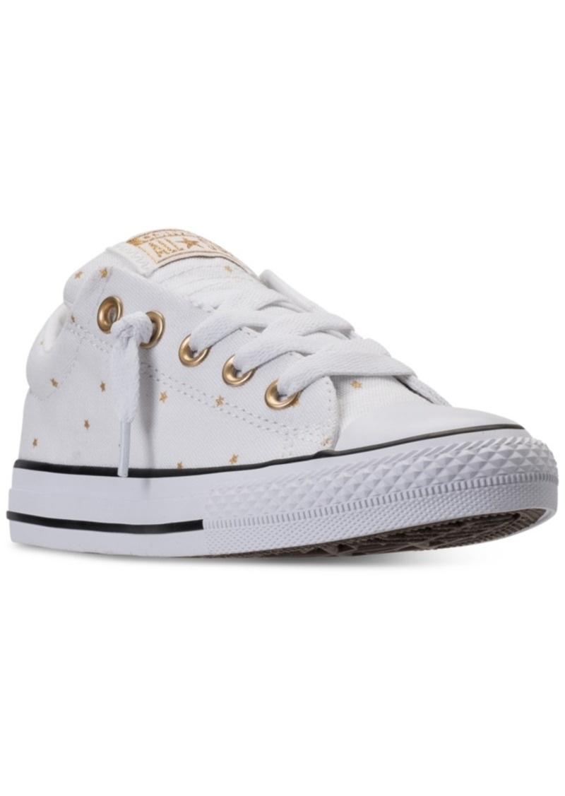 Converse Little Girls  Chuck Taylor Street Ox Casual Sneakers from Finish  Line d574bd075