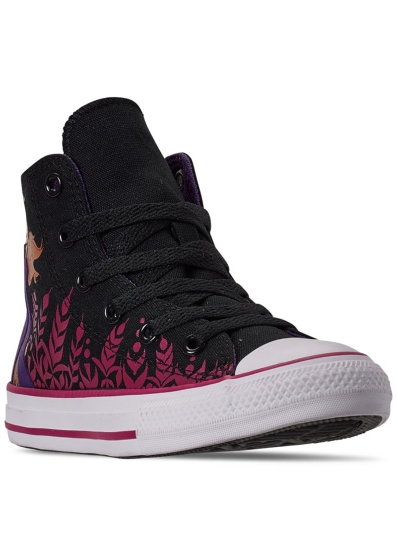 Converse Little Girls Converse Frozen 2 Chuck Taylor All Star Hi Top Casual Sneakers from Finish Line