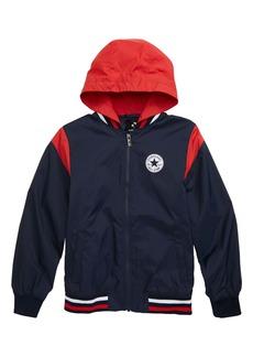 Converse Logo Waterproof Hooded Jacket (Big Boy)