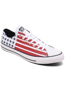Converse Men's Chuck Taylor All Star Stars and Stripes Low Top Casual Sneakers from Finish Line