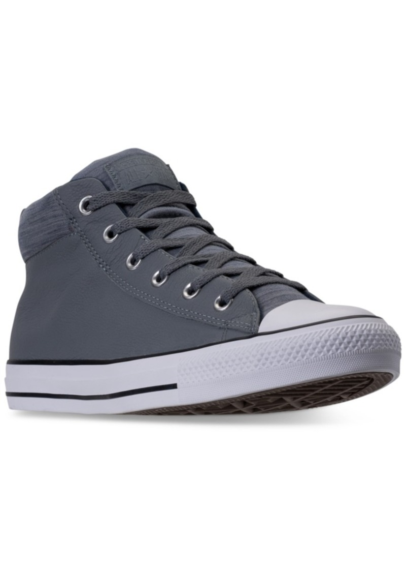 27050478b28c Converse Men s Chuck Taylor All Star Street Mid Casual Sneakers from Finish  Line