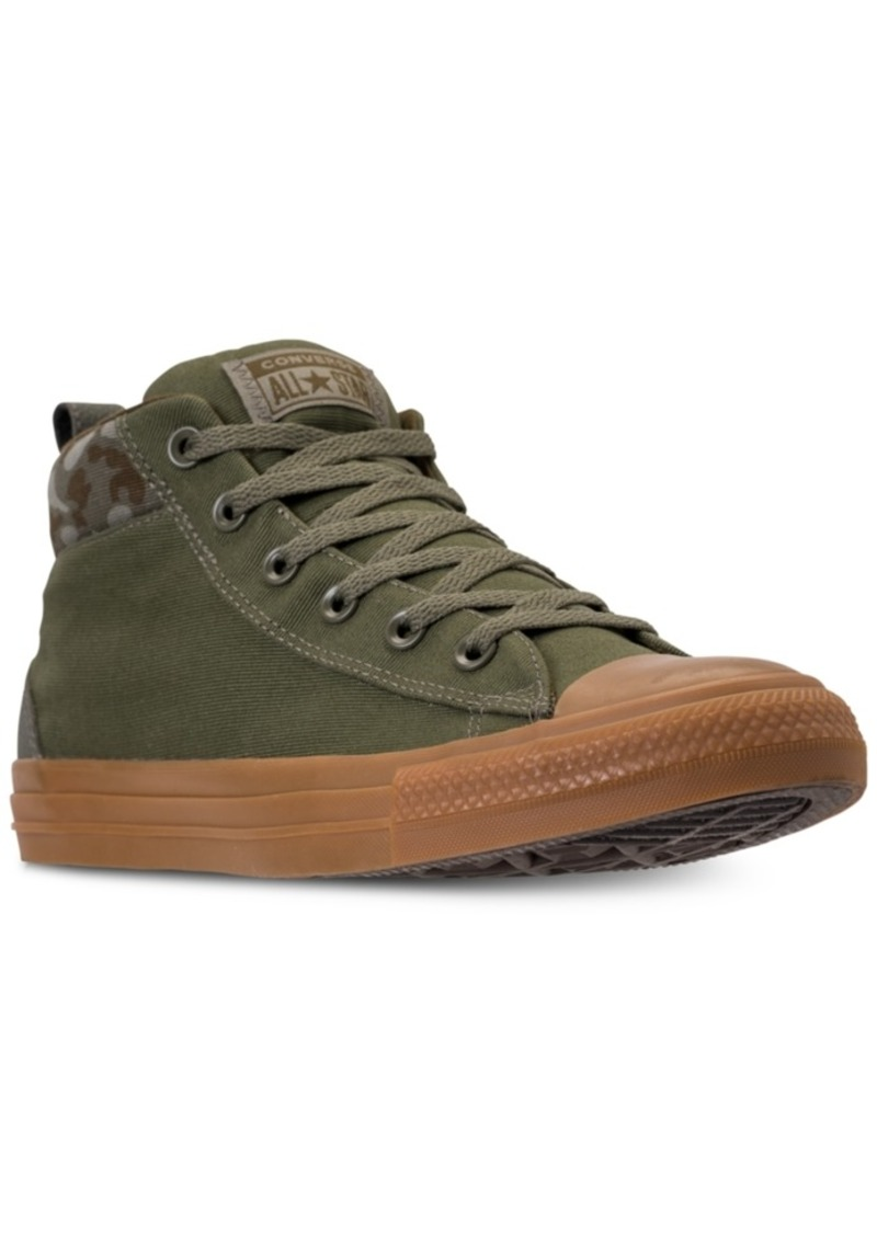 36bbed3ad806 Converse Men s Chuck Taylor All Star Street Mid Combat Zone Casual Sneakers  from Finish Line