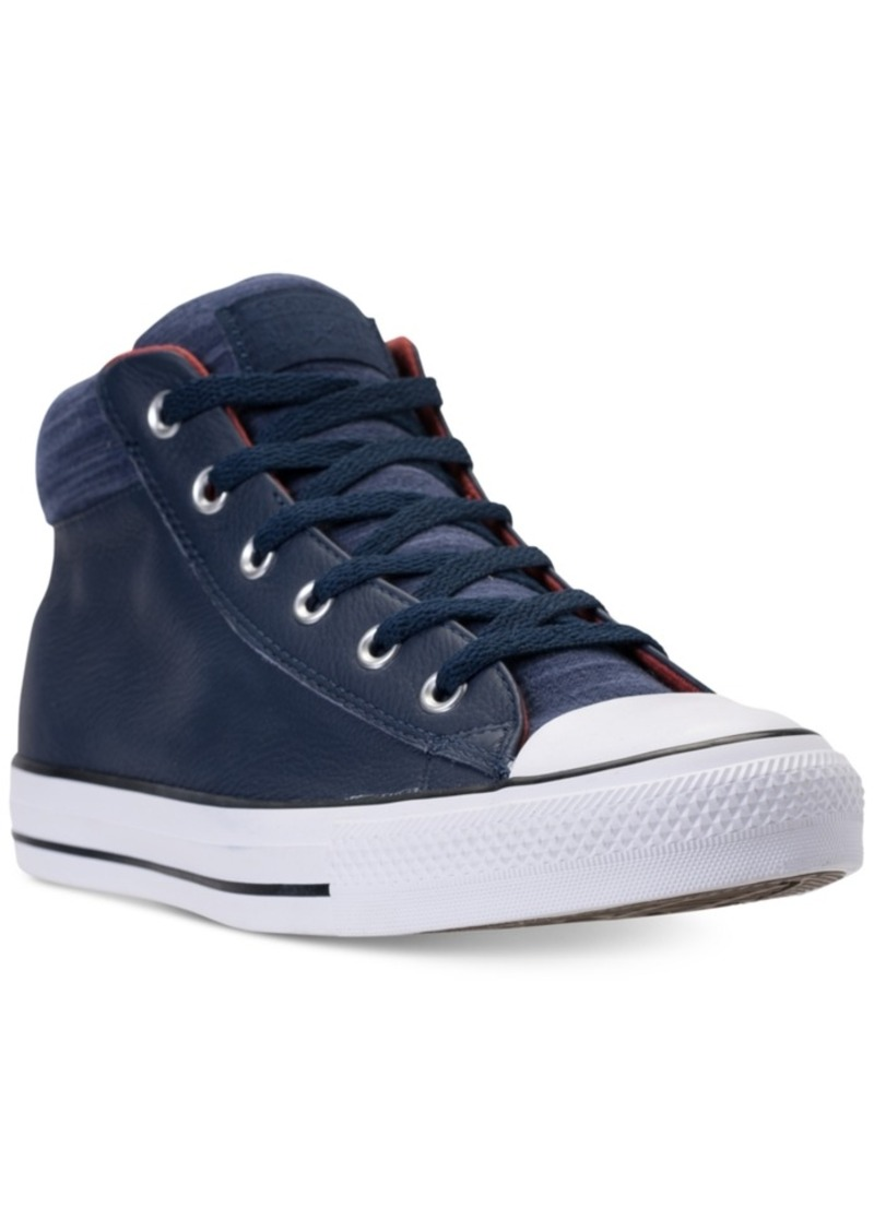 c6c33d2ce3b2 Converse Men s Chuck Taylor All Star Street Mid Leather Casual Sneakers  from Finish Line