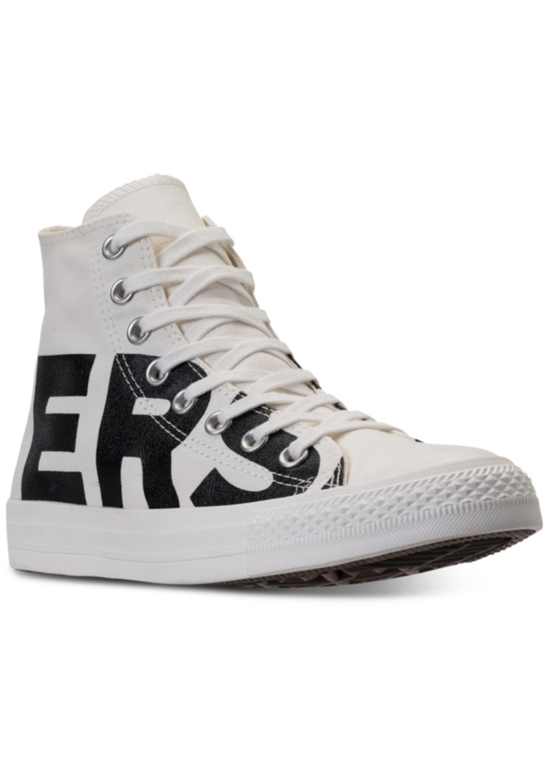 Men's Chuck Taylor All Star Wordmark High Top Casual Sneakers from Finish Line