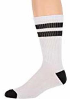 Converse Men's Classic Double Crew Socks 3-Pair White/black Stripes