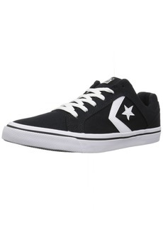 Converse Men's El Distrito Canvas Low Top Sneaker black/white/black  M US