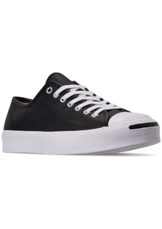 Converse Men's Jack Purcell Tumbled Leather Casual Sneakers from Finish Line