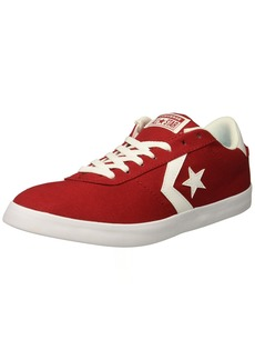 Converse Men's Point Star Canvas Low Top Sneaker Gym red/Gym red/White  M US