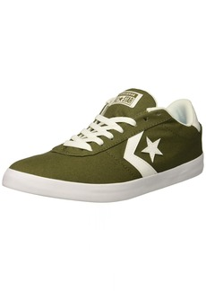 Converse Men's Point Star Canvas Low Top Sneaker Medium Olive