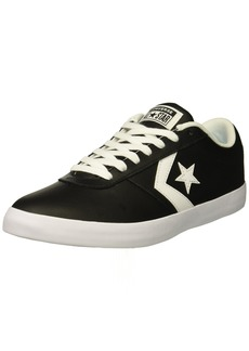 Converse Men's Point Star Leather Low Top Sneaker Black/White  M US