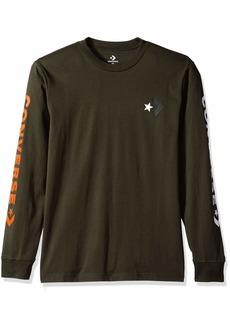 Converse Men's Star Chevron Wordmark Long Sleeve Tee  L
