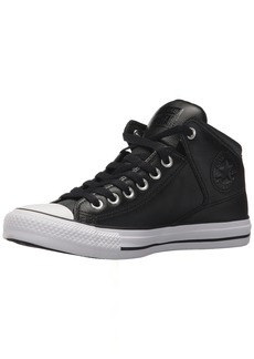 Converse Men's Street Leather High Top Sneaker Black/White  M US