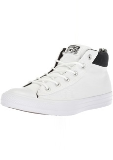 Converse Men's Street Nylon Mid Top Sneaker Black/White