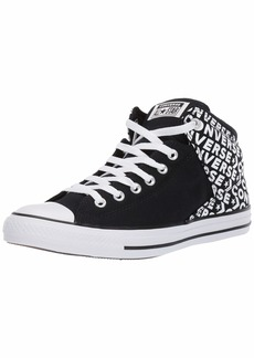 Converse Men's Unisex Chuck Taylor All Star Street Wordmark High Top Sneaker Black/White  M US