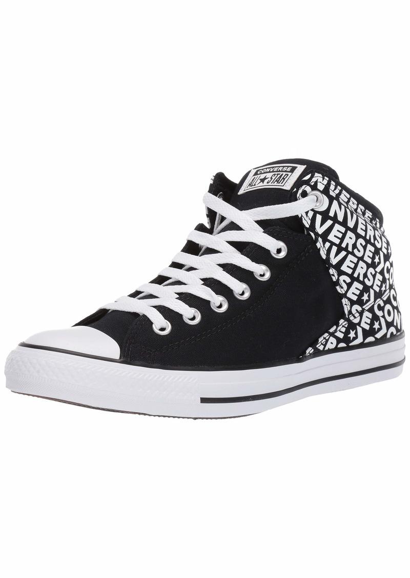 Converse Men's Unisex Chuck Taylor All Star Street Wordmark High Top Sneaker Black/White  M US