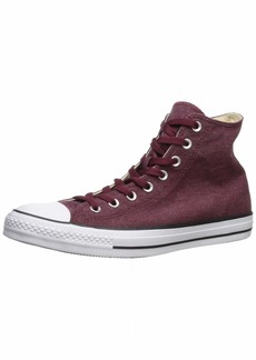 Converse Men's Unisex Chuck Taylor All Star Washed Canvas High Top Sneaker   M US