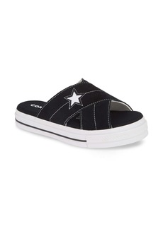 Converse One Star Platform Slide Sandal (Women)