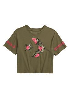 Converse Rose Star Chevron Graphic Tee (Big Girls)