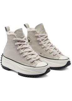 Converse Run Star Hike Hi borg lined sneakers in cream