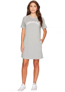 Converse Satin Trim Sweatshirt Dress
