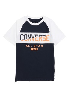 Converse Spliced Graphic Raglan T-Shirt (Big Boys)