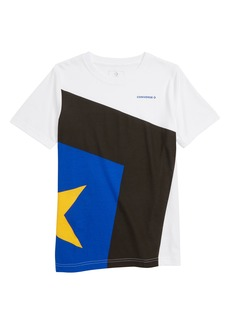 Converse Spliced Star Chevron T-Shirt (Big Boys)