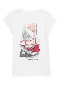 Converse Stacked Chucks Tee (Big Girls)