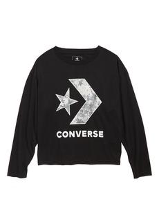 Converse Star Chevron Graphic Sweatshirt (Big Girls)